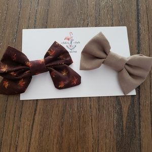 Fall Themed Hair clips